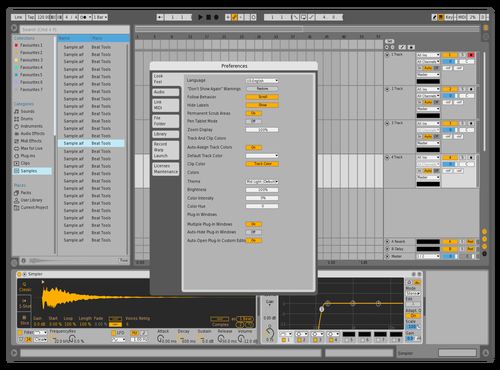 Light Yellow Blue Theme for Ableton 10 by Shayan Amiri