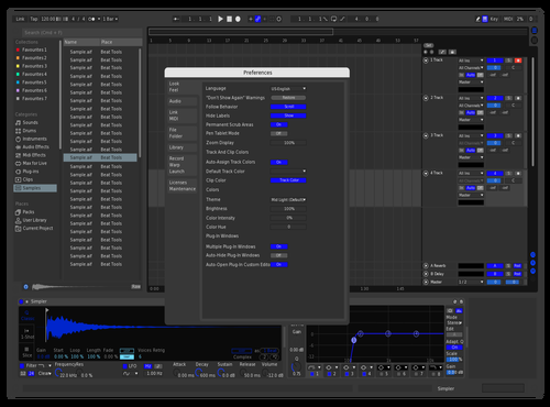 Blue Rafou Theme for Ableton 10 by Raphael Pazoumian