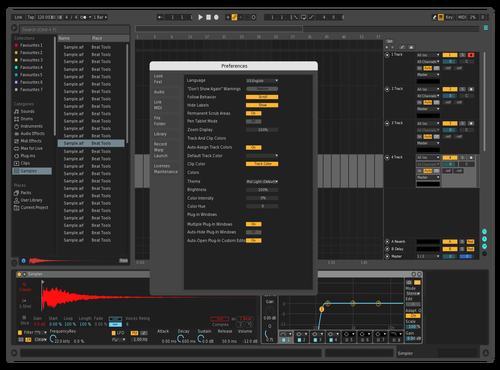 Darker Theme with RED Theme for Ableton 10 by Endless