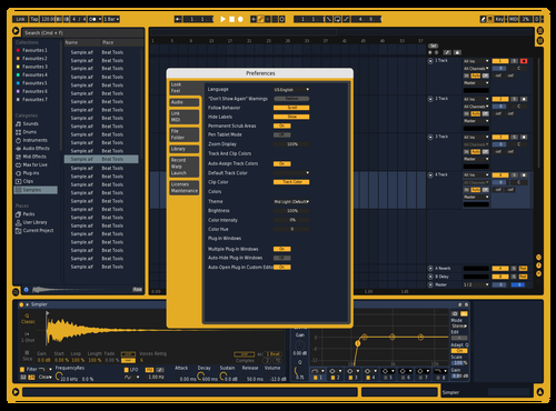 Blueprint Theme for Ableton 10 by Qwert