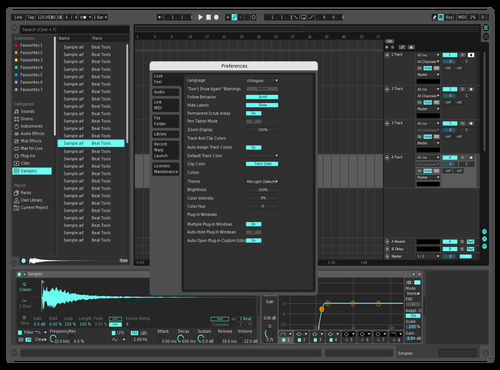 Dark blue Theme for Ableton 10 by obeybastien