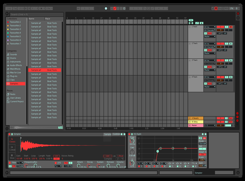 Contrasting Red & blue Theme for Ableton 10 by emmarosa@hotmail.co.uk