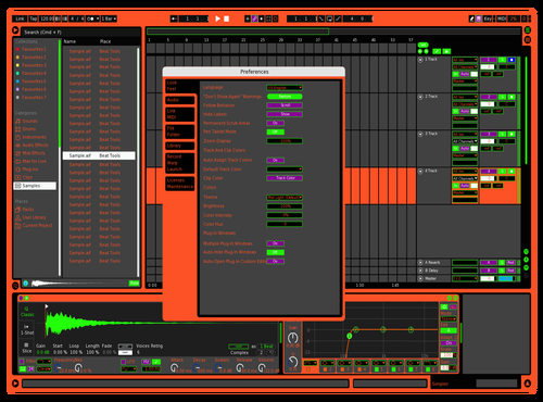Orange Krush Theme for Ableton 10 by justin harvey