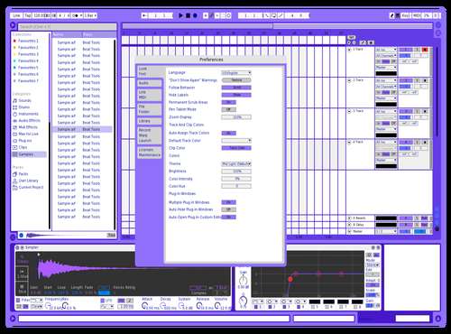 Yahoo Theme for Ableton 10 by Davey