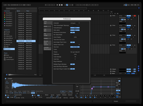 Et's light dark blue Theme for Ableton 10 by et