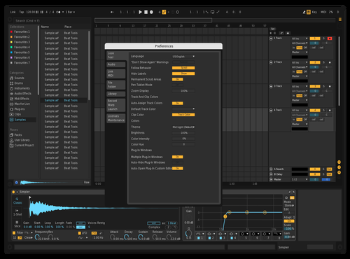 Dark but darker Theme for Ableton 10 by Odys