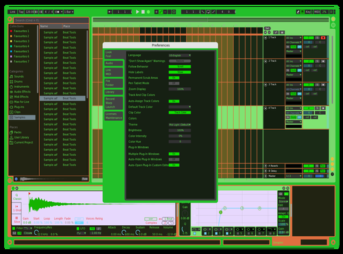 Green black 2 Theme for Ableton 10 by Rvanah