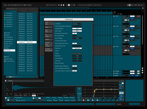 Dark Blue Theme for Ableton 10 by Lascu_ro