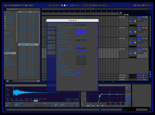 Epic Blue Theme for Ableton 10 by alec