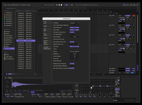 NightPurple Theme for Ableton 10 by Sumner Peterson