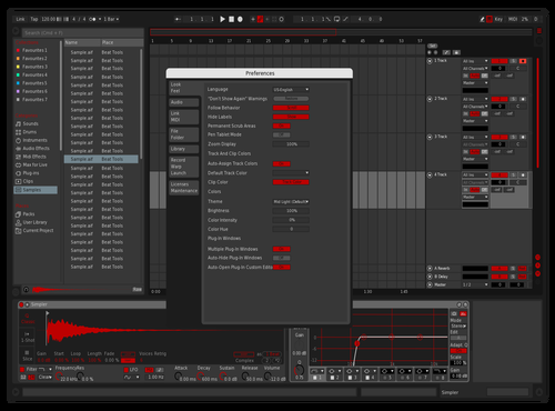 Dark Red Theme for Ableton 10 by Paul Matthew