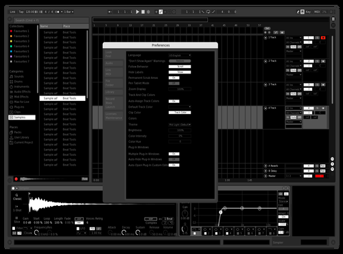 Noir Theme for Ableton 10 by Dylan Lee