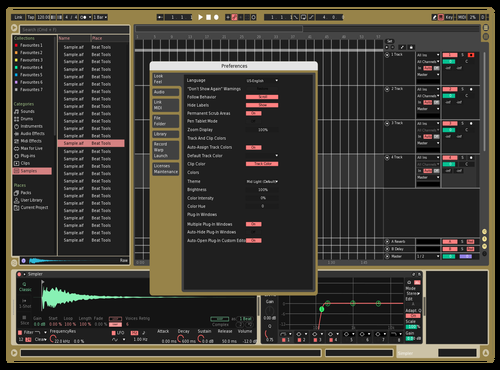 Goldgram Theme for Ableton 10 by Alesio