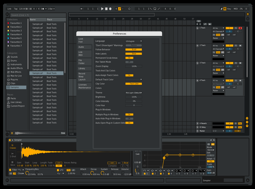 Gold_RAkiN_Sonic Theme for Ableton 10 by Radouane Alaoui