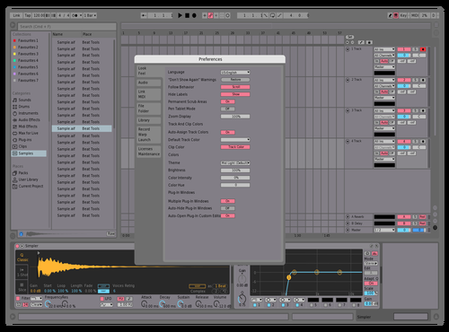 Light purple (sketch) Theme for Ableton 10 by Allis