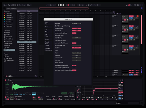Modern Pink Theme for Ableton 10 by Abel