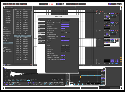 White Theme for Ableton 10 by Alex