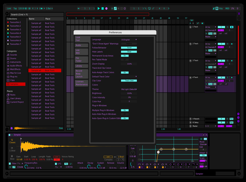 Purppe Theme for Ableton 10 by mathis