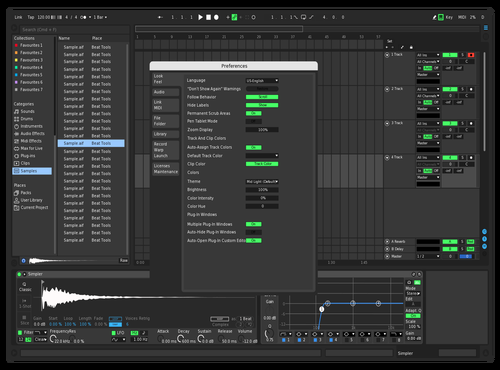 Dark theme Theme for Ableton 10 by posaidon