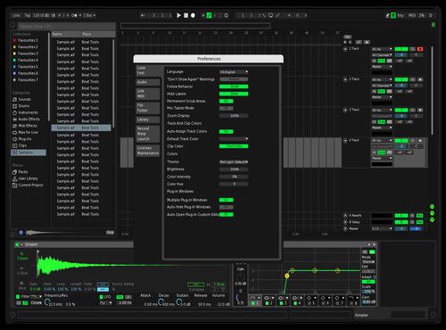 Dark Green Theme for Ableton 10 by Captain-H