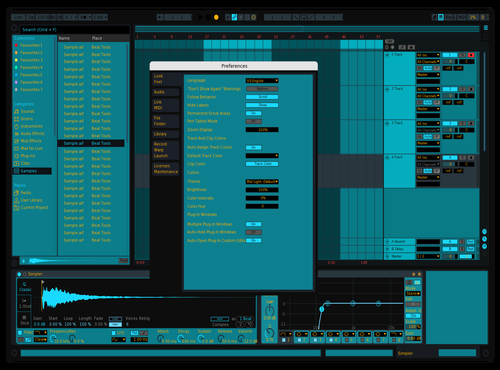 Azure dream Theme for Ableton 10 by alberto selvaggi