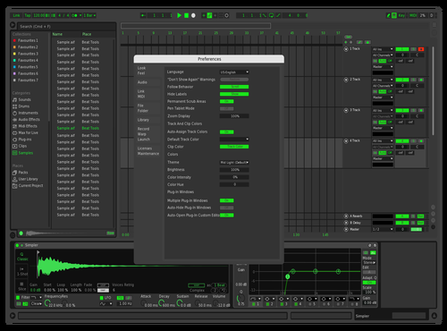 Green Alien Theme for Ableton 10 by Mohit