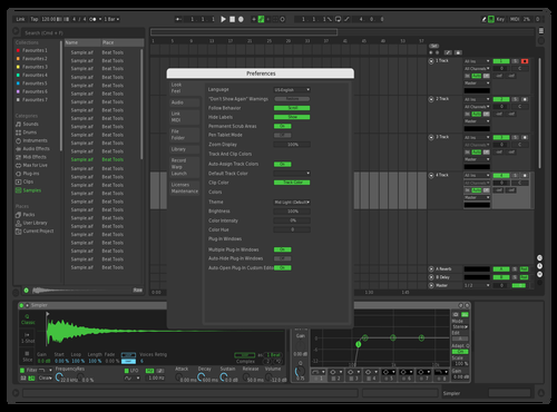 Spotify Modified Theme for Ableton 10 by Nomra