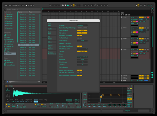 Turkise Grey Theme for Ableton 10 by Nils