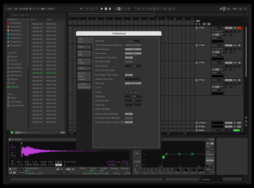 Spoodify Theme for Ableton 10 by Kurt E Zimmer