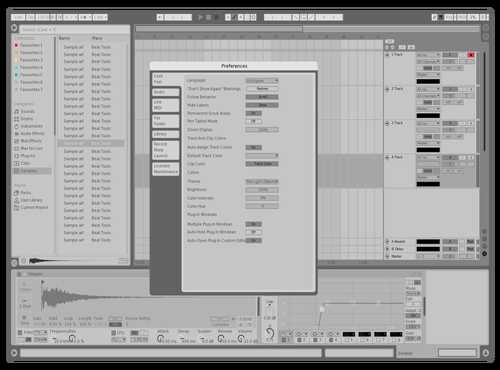 Grey Matter Theme for Ableton 10 by Analog