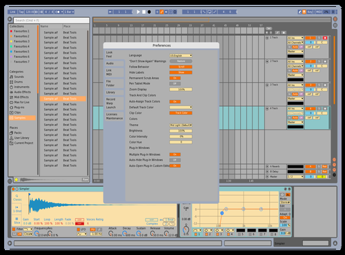 Retro Test Theme for Ableton 10 by William H Barnville III