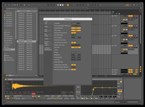 Yellow Mid Dark Theme for Ableton 10 by Nikita Katilis