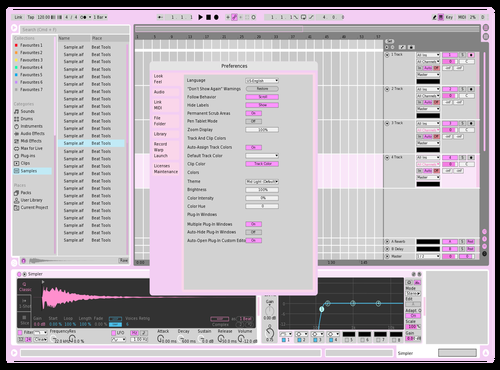 Cupcake Cream Pink Theme for Ableton 10 by Balynsus