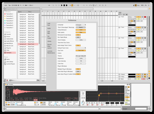 White Theme for Ableton 10 by beamerboy
