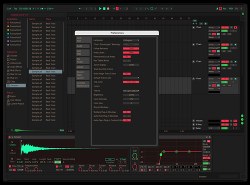 LazerCutter Theme for Ableton 10 by Drew