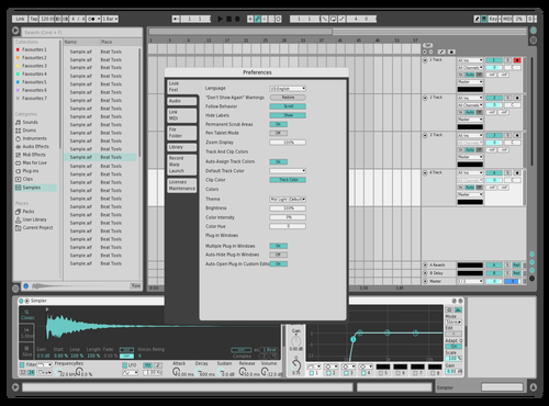 Production Music Live  - Light Theme for Ableton 10 by Francois