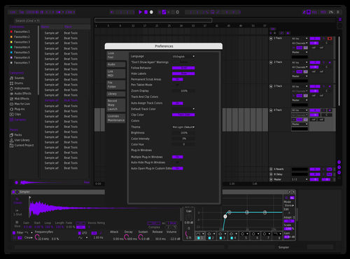 Purple_World v1.1 Theme for Ableton 10 by Kang woo