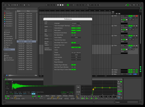 Dark Greeny Theme for Ableton 10 by bm