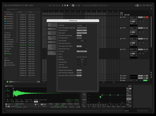 Spotify lighter Theme for Ableton 10 by ineptvirus