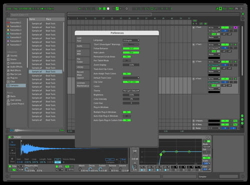 SHINY DARKY Theme for Ableton 10 by umbravicepectra