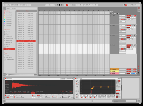 Light Red Theme for Ableton 10 by Ableton Themes