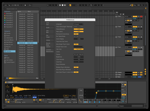 Dark Blue Theme for Ableton 10 by Juan
