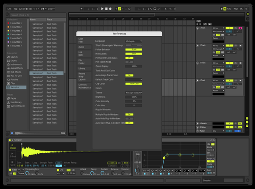 NeonDark Theme for Ableton 10 by Andrew Bayliff