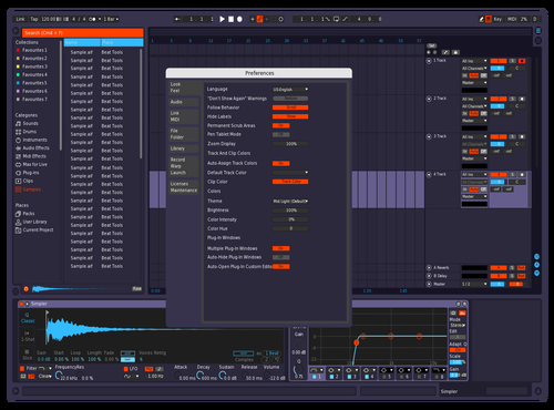 Red and Blue Theme for Ableton 10 by Matt Thomas Gleason