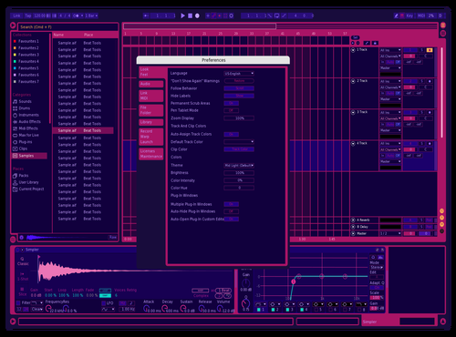 Pink_type_1 Theme for Ableton 10 by Arion