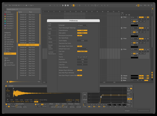 Flat Live Orange Theme for Ableton 10 by Rustam