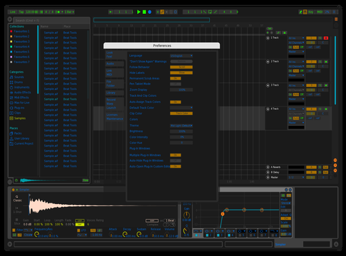 BlackBlueGreen Theme for Ableton 10 by Zed