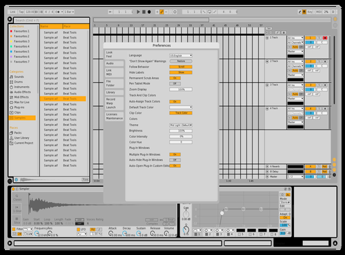 White/dark lines Theme for Ableton 10 by doobmud