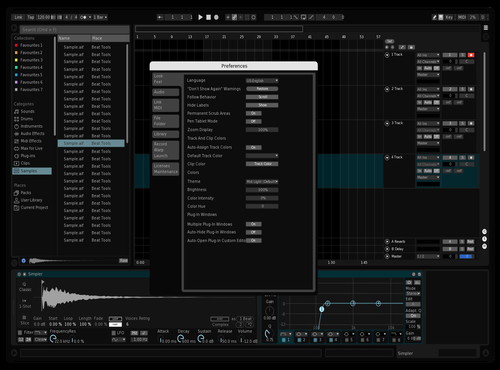 Dark custom Theme for Ableton 10 by Mikhail