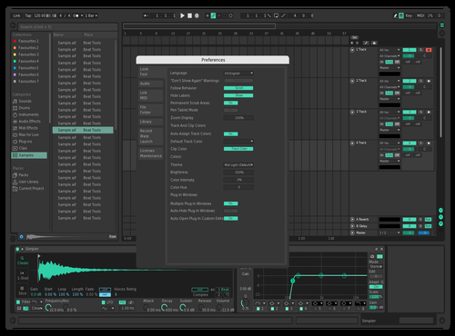 Mint Theme for Ableton 10 by lunar1337